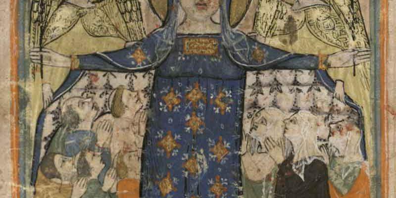 Biblioteca Universitaria di Pavia, Ticinesi 385, Regula verberatorum Sancti Innocentij presbiteri Papiensis et recomandatorum Sancte Marie Confalonis Papie, pergamenaceo, sec XIV, ultimo quarto