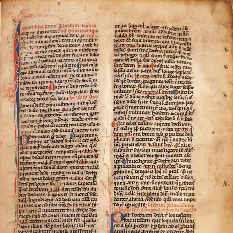 Aldini 325, Opuscula moralia di Albertano da Brescia, del secolo XIII, uno dei codici più antichi e importanti dell'autore