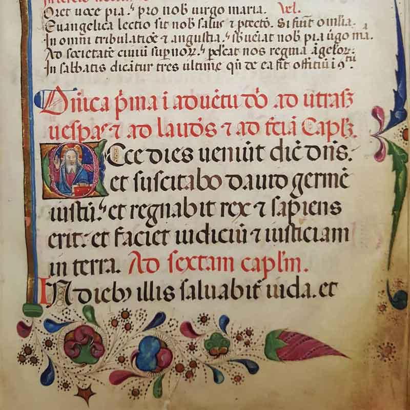 Aldini 190, Chorale. Membr., XV sec., 148 cc. n.n., 235 x 170 mm.