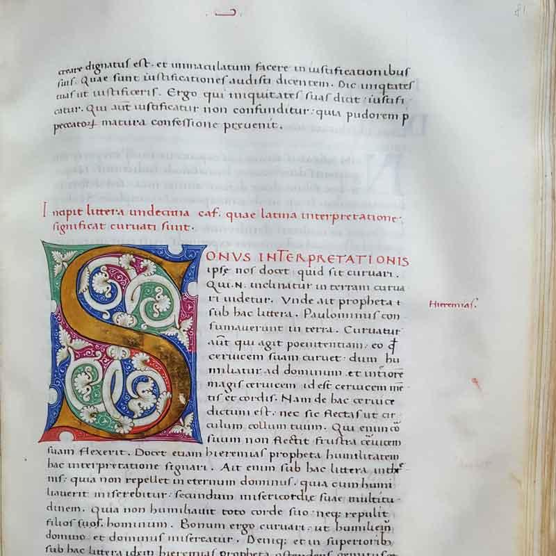 Aldini 302, S. Ambrogio, Super psalmo centesimo octavo decimo expositio. Perg., XV sec., c. 81r