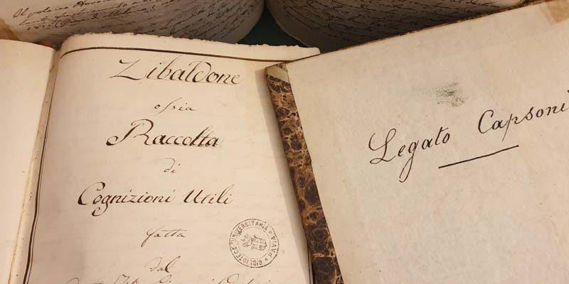 Giovanni Capsoni, Zibaldone ossia Raccolta di cognizioni utili fatta dal dottor fisico [...] pavese, dal 1814 al 18.. Cartaceo, formati vari, in 5 tomi, sec. XIX (Ticinesi 641)