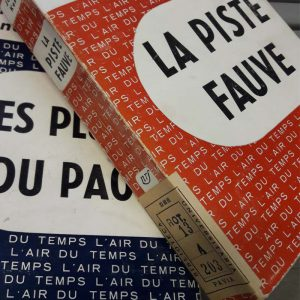 Joseph Kessel, La piste fauve. Paris, Gallimard, 1954 (Rot. 13 A 203)