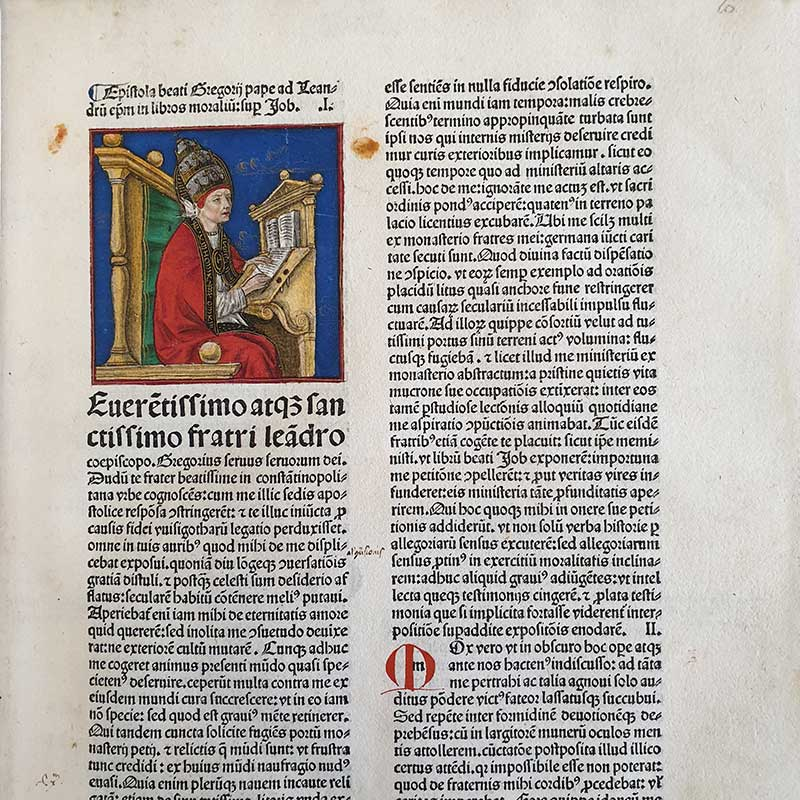 Gregorius PP. IX (Ugolino dei Conti di Segni), Decretalium libri V cum glossa. Venetiis, Bartholomaeus de Alexandria, Andrea De Asula et Mapheus de Salodio, 1482